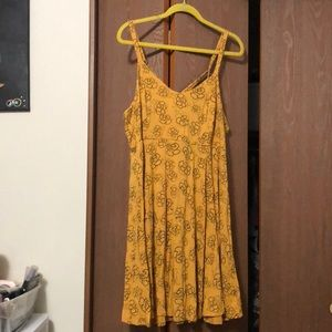 Yellow and black strapped dress